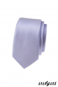 Lila slim vzorovaná kravata Avantgard