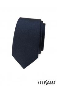 Temno modrá slim kravata