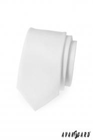 Pánska kravata SLIM - Biela MAT