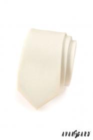 Úzka, smotanovo matná kravata Avantgard