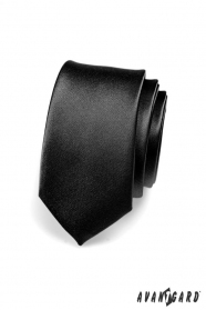 Úzka kravata SLIM čierna lesk