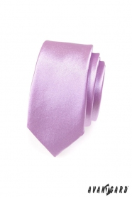 Pánska kravata SLIM - Lila lesk