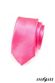 Kravata SLIM fuchsiová ružová