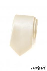 Smotanová pánska slim kravata