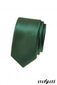 Tmavo zelená kravata SLIM