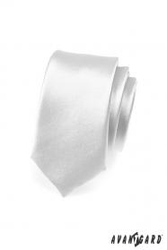 Strieborná úzka kravata SLIM