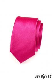 Pánska kravata fuchsiová slim