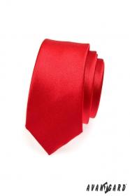Červená úzka kravata SLIM