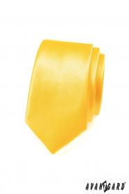 Kravata SLIM výrazná žltá
