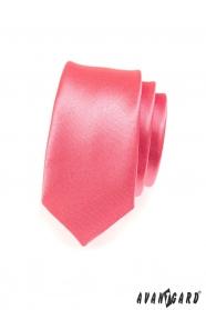 Úzka kravata koralové farby