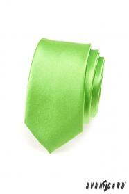 Pánska kravata SLIM zelená vysoký lesk