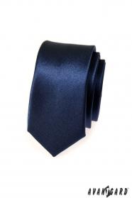 Úzka kravata SLIM pánska modrá