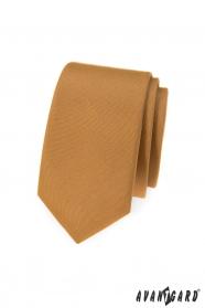 Úzka béžová kravata Avantgard