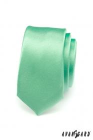 Zelená úzka kravata SLIM hladká