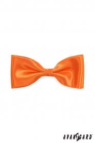 Pánsky motýlik pomarančovej farby