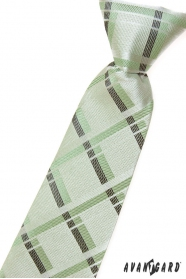 Chlapčenská kravata zelená s prúžkami