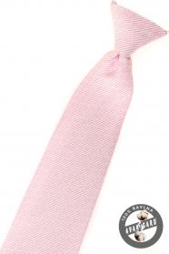 Chlapčenská kravata - Ružová štruktúrovaná