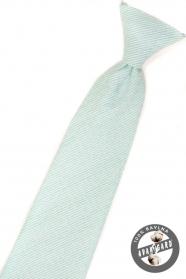 Chlapčenská kravata mätová štruktúrovaná