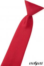 Matná červená chlapčenská kravata