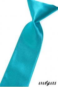 Chlapčenská kravata tmavo tyrkysová