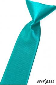 Tyrkysovo modrá chlapčenská kravata