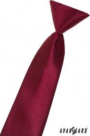 Chlapčenská kravata bordó lesklá