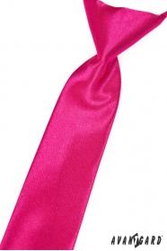 Chlapčenská kravata fuchsiová s leskom