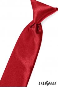 Červená chlapčenská kravata na gumičku