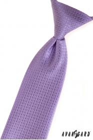 Chlapčenská kravata fialová štruktúrovaná