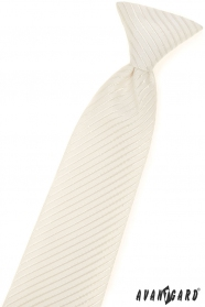 Vzorovaná chlapčenská kravata smotanovej farby