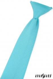 Tyrkysová matná chlapčenská kravata