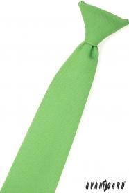 Chlapčenská kravata trávovo zelená