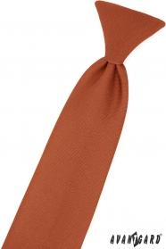 Škoricovo hnedá chlapčenská kravata