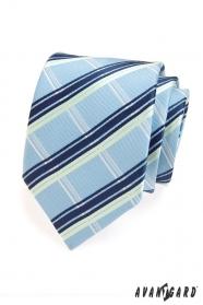 Pánska kravata modro biele prúžky