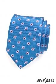 Pánska kravata vzorovaná s kvetmi