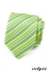 Svetlo zelená prúžkovaná kravata
