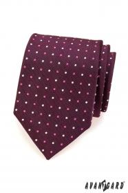 Pánska kravata - Fialová s bodkou