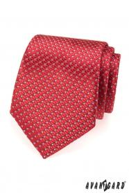 Červená štruktúrovaná kravata