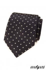 Hnedá pánska kravata so vzorom