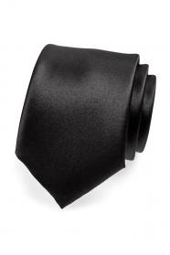 Matná pánska kravata čierna