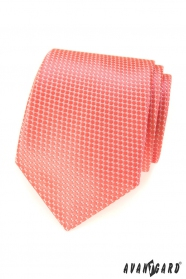 Lososová kravata s pravidelným vzorom