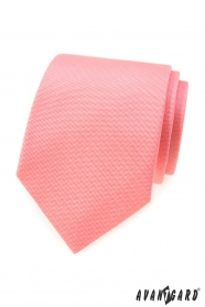 Štruktúrovaná kravata vo farbe lososa