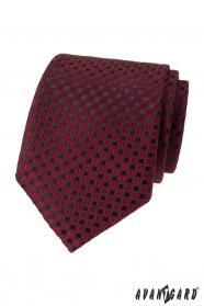 Bordó kravata s čiernym vzorom
