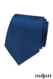 Modrá kravata s prešívaným vzorom