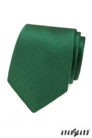 Zelená pánska kravata so štruktúrou