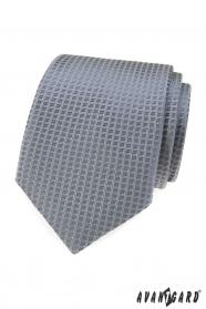 Šedá kravata so štruktúrou