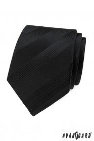 Čierna pánska kravata s pruhmi