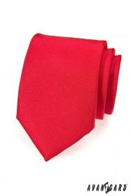 Pánska kravata červená MAT