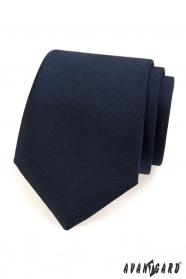 Modrá matná kravata pre pánov
