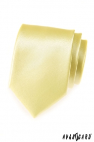 Svetlo žltá pánska hladká kravata